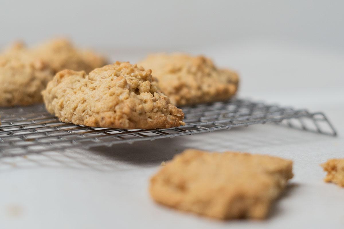 Erdnussbutter-Haferflockenkekse